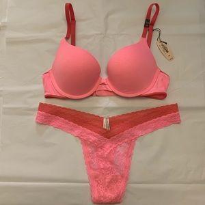Victoria's Secret Padded Perfect Coverage Bra Set